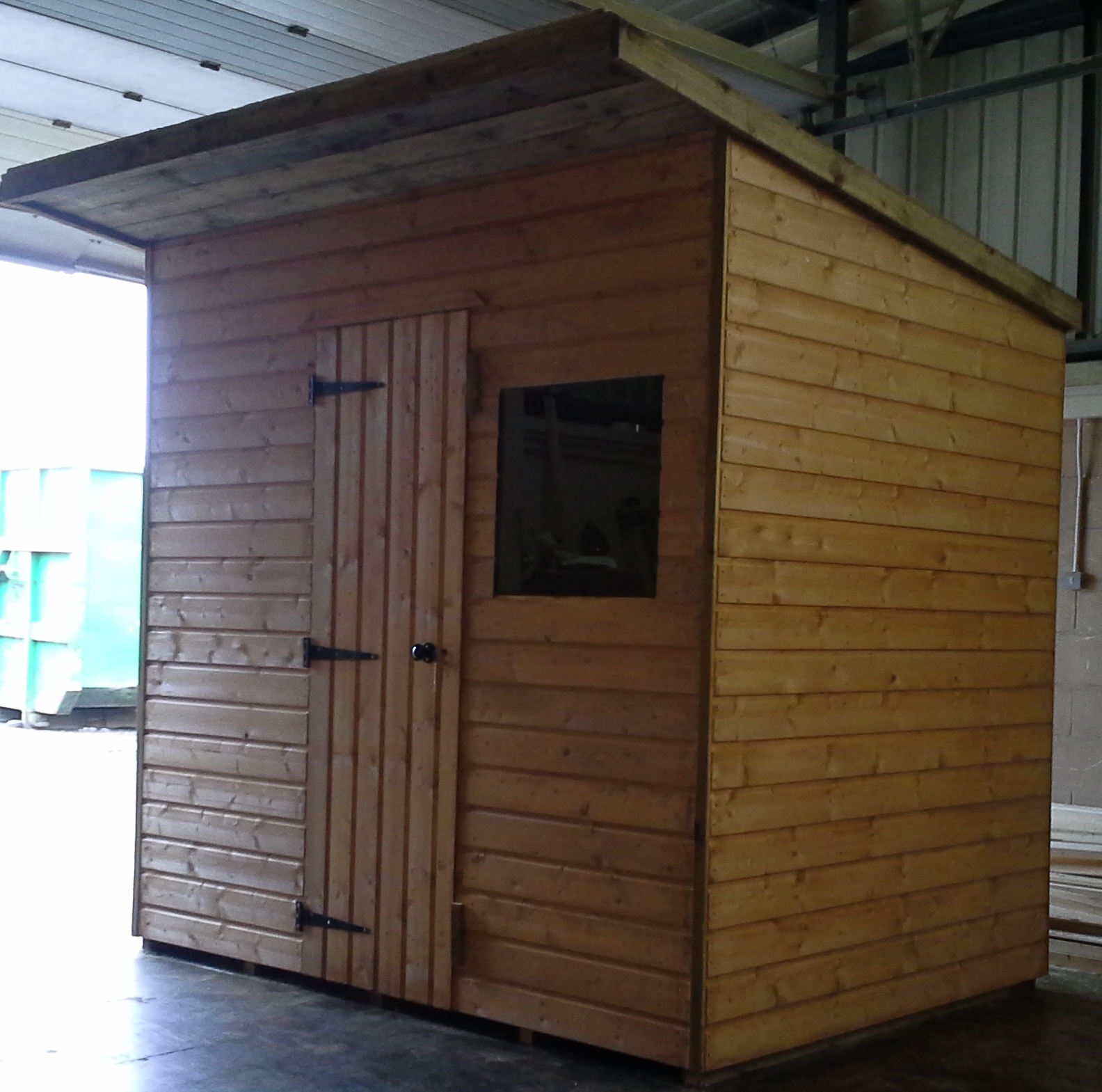 pent shed 8 x 6 overhang roof