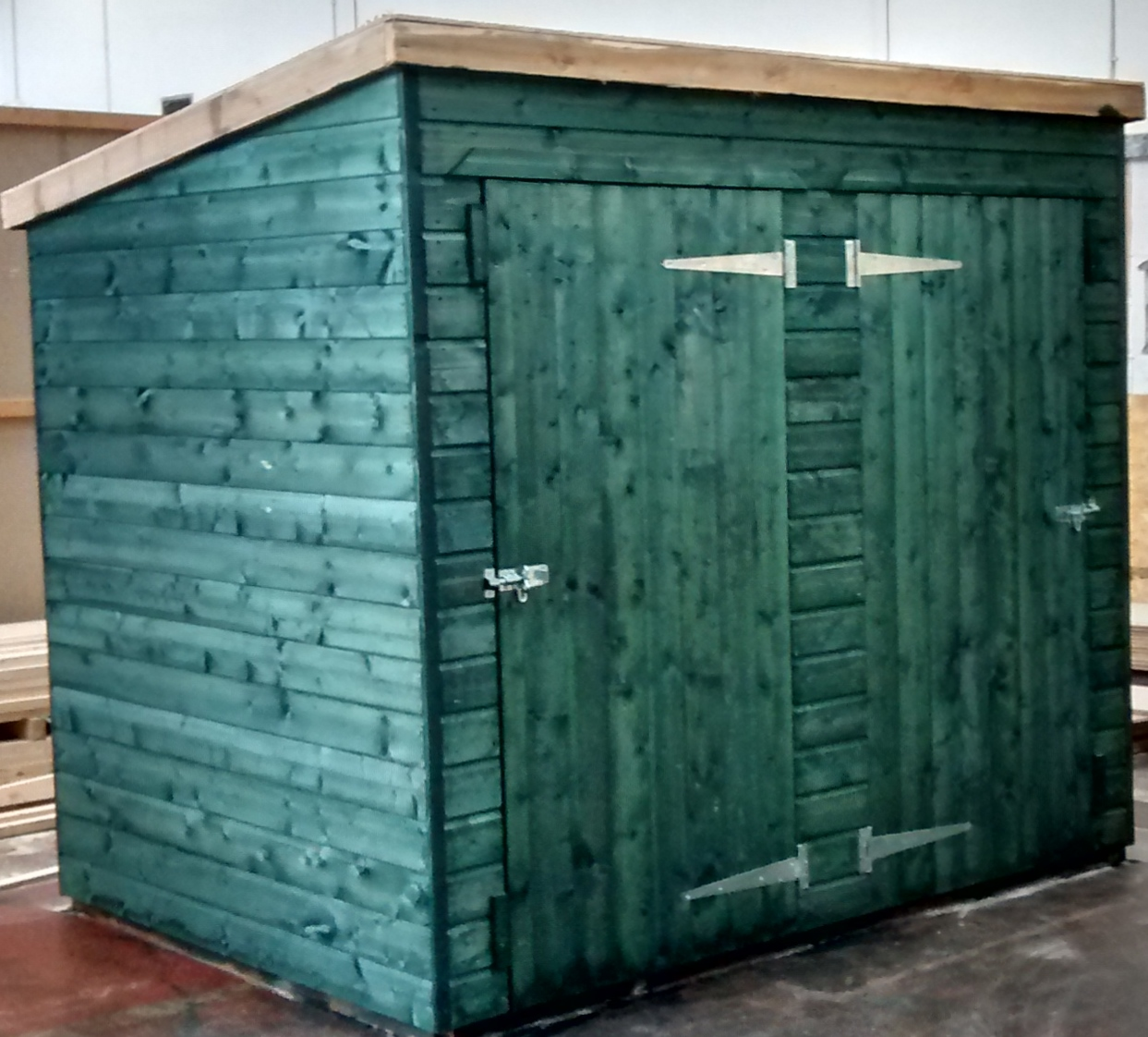 Pent Shed (8' x 6') - 2 S-W/Door