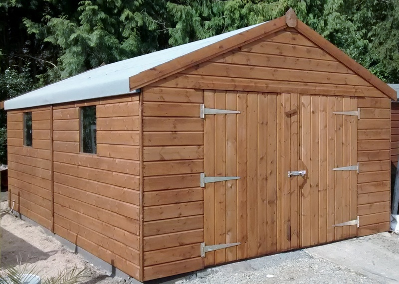 Max timber sheds timber garages for Wooden playhouse with garage