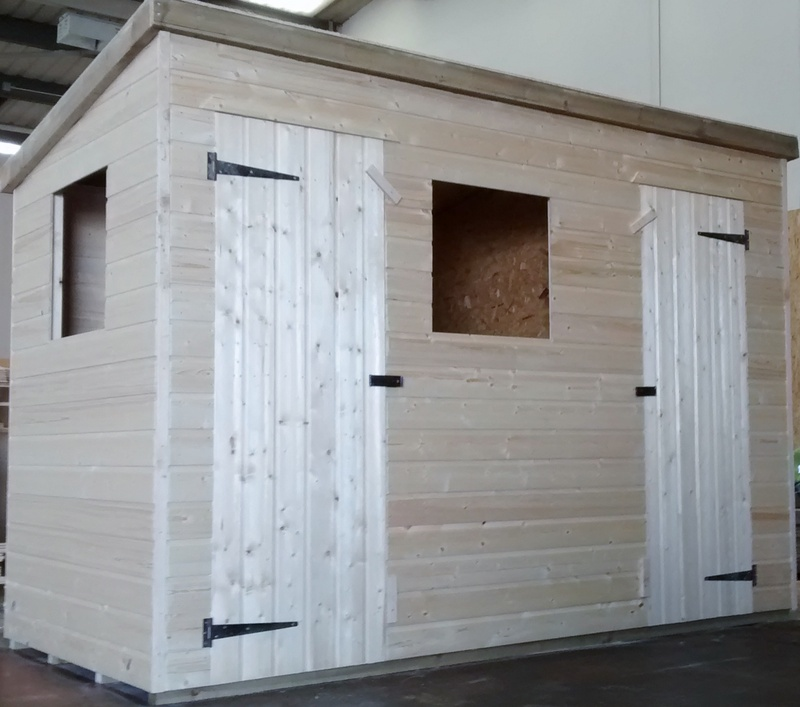 Pent Shed (10' x 5') - 2 S/Door