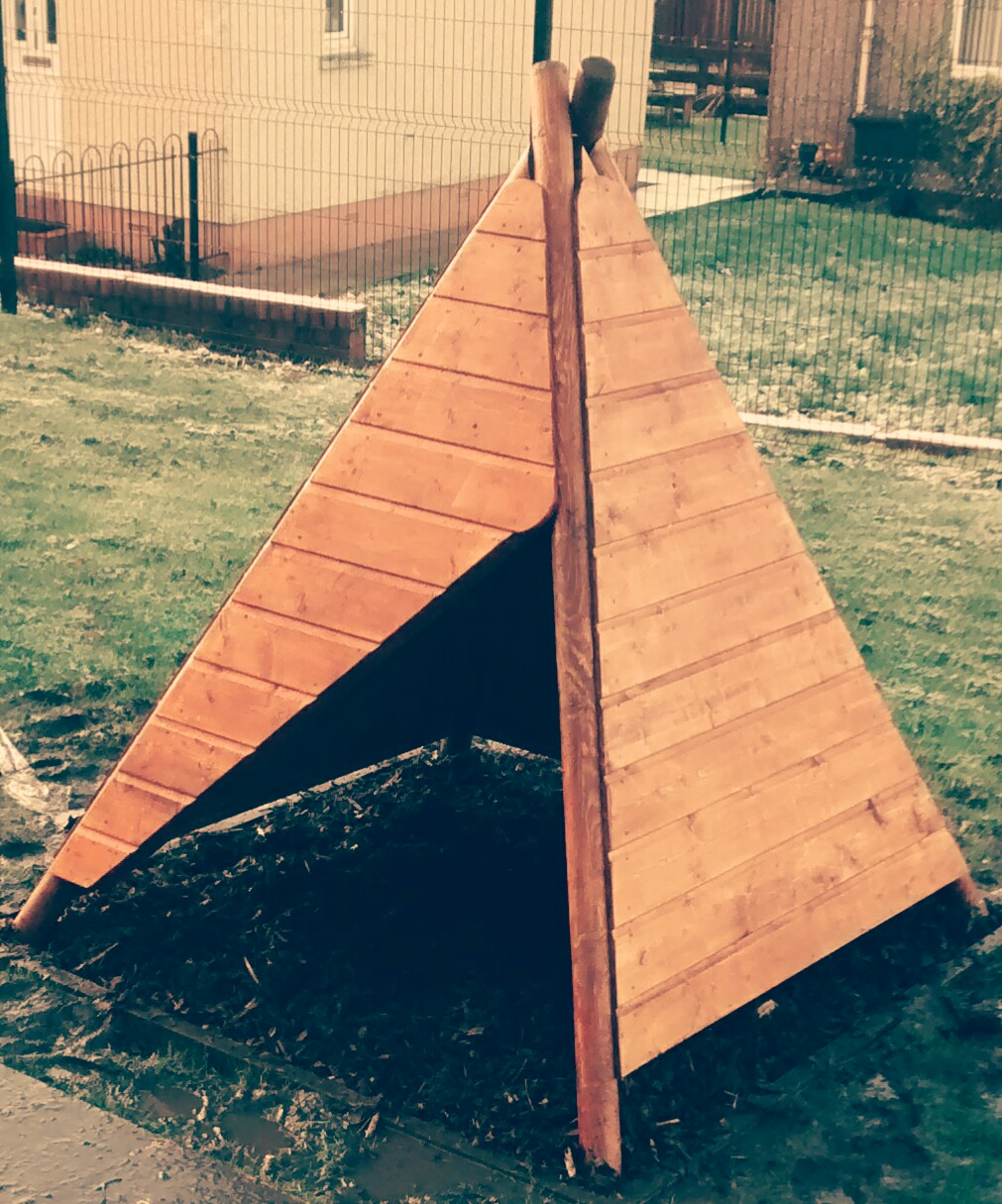 Kids Wooden Teepee Playhouse