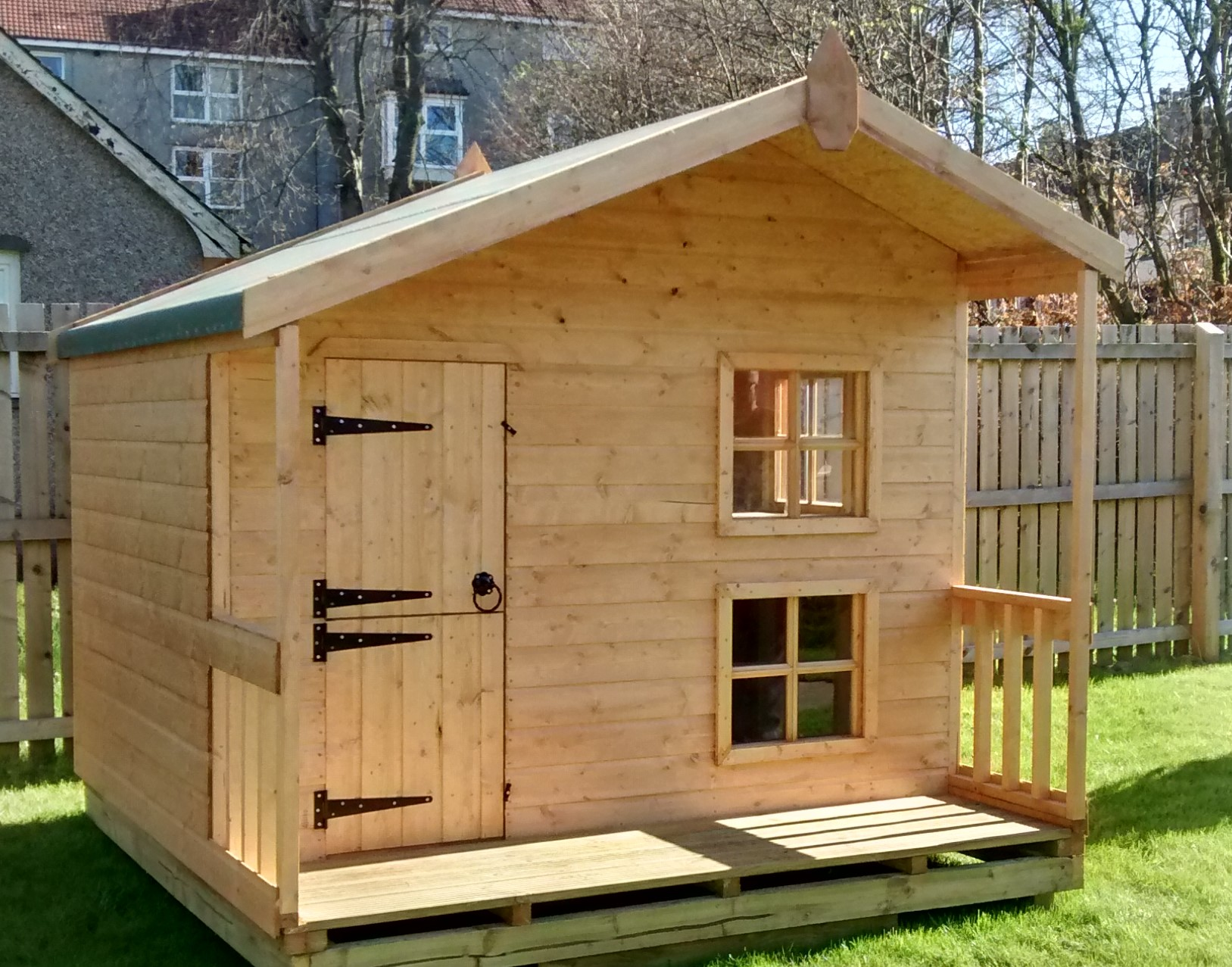 Two Storey Playhouse With Veranda 8 X 8